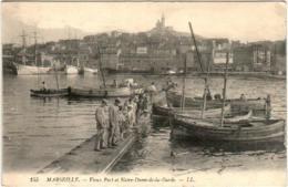 31oks 729 CPA - MARSEILLE - VIEUX PORT ET NOTRE DAME DE LA GARDE - Marseille