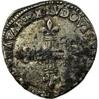 Monnaie, France, Louis XIII, ¼ Ecu De Navarre, Date Incertaine, Saint-Palais - 1610-1643 Louis XIII Le Juste