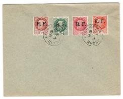 14574 - Surcharges RF De LYON - Marcophilie (Lettres)