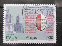 *ITALIA* USATI 1999 - 50° SCOMPARSA GRANDE TORINO - SASSONE 2414 - LUSSO/FIOR DI STAMPA - 6. 1946-.. Repubblica