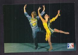 CPSM PATINAGE ARTISTIQUE - DANSE SUR GLACE - M. ANISSINA + G. PEIZERAT CHAMPIONS OLYMPIQUES 2002 - Sports D'hiver