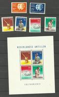 Antilles Néerlandaises N°309 à 314 Neufs** Bloc N°1 Neuf Avec Charnière* Cote 5.30 Euros - Curaçao, Antilles Neérlandaises, Aruba