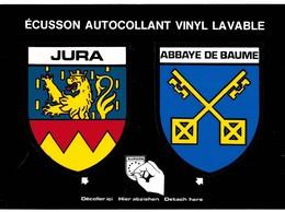 CPM* N°2241 - ECUSSON AUTOCOLLANT VINYL LAVABLE - JURA & ABBAYE DE BAUME - Unclassified