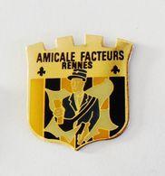 Pin's BLASON Amicale Facteurs Rennes - Poste