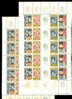 F 1414 - Bande Philatec 1964 - Feuille Complète De 5 Bandes Chacune - Neufs N** - Très Beaux - Feuilles Complètes