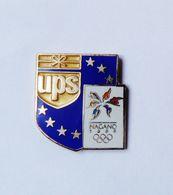 Pin's BLASON JO Nagano 1998 UPS - Ciudades