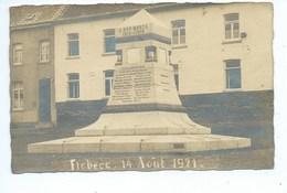 FLOBECQ CARTE PHOTO 14 AOUT 1921 MONUMENT A NOS MORTS 1914 - 1918 - Flobecq - Vloesberg