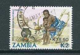 1989 Zambia Overprint K18.50 Used/gebruikt/oblitere - Zambia (1965-...)