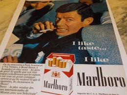 ANCIENNE PUBLICITE OF COURSE I CHANGEAD TO   CIGARETTE  MARLBORO  1965 - Tabac (objets Liés)