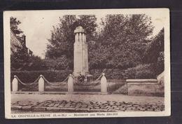 CPA 77 - LA CHAPELLE-la-REINE - Monument Aux Morts 1914-1918 - TB PLAN EDIFICE - La Chapelle La Reine