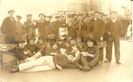 1914- 1915 -Carte-PHOTO De Félicien César, De BURLIONCOURT ( Moselle ) Marin à Wilhelmshaven, Groupe De Musique - Other Municipalities