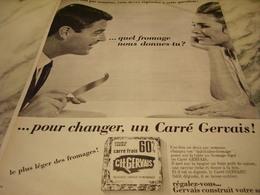 ANCIENNE PUBLICITE POUR CHANGER  FROMAGE FRAIS DE GERVAIS  1965 - Affiches