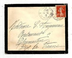 Lettre , PARIS 75 ,R. LA PEROUSE , 1912 ,  2 Scans - 1877-1920: Période Semi Moderne