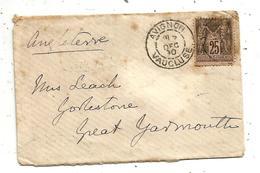 Lettre , AVIGNON , VAUCLUSE ,1890,  2 Scans - 1877-1920: Période Semi Moderne