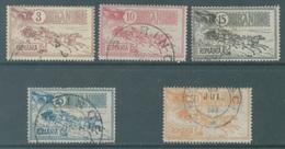 ROMANIA  - 1903 - USED/OBLIT. - Yv 138 140-142 144  - Lot 19050 - 1881-1918: Carol I.