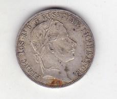 AUSTRIA 1 FLORIN 1860 A - SILVER-**629 - Austria