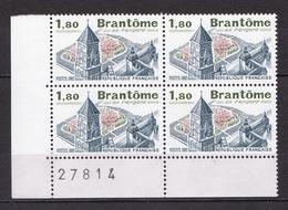 N° 2253 Brantôme En Périgord:  Bloc De 4 Timbres  Neuf Impeccable - Frankrijk