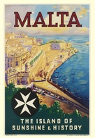 Travel Postcard Malta The Island Of Sunshine & History - Reproduction - Advertising