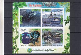 Tortues - Poissons - Otaris - Voiliers - Burundi - COB BF 321 ** - MNH - NON Dentelé - Valeur 36 Euros - Burundi