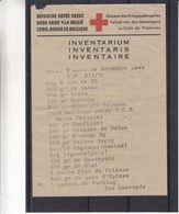Croix Rouge - Belgique - Document De 1943 - Inventaire Pakket Prisonnier De Guerre - Rare - Croce Rossa