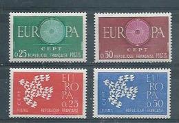 FRANCE -  Yvert  N° 1266-1267-1309-1310 **  EUROPA 1960 Et 1961 - France