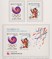 JEUX OLYMPIQUES DE 1988 (SEOUL):   Timbres De La Corée Du Sud, Neufs ** - Summer 1988: Seoul