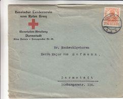 Croix Rouge - Allemagne - Empire - Lettre De 1917 ° - Exp Vers Darmstadt - - Cruz Roja