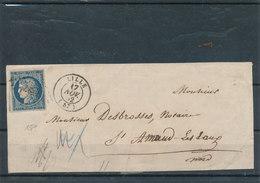 N°4 SUR DEVANT DE LETTRE. - 1849-1850 Ceres