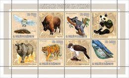 S. TOME & PRINCIPE 2006 - Endangered Animals, Rhinoceros - Mi 2794-7 - Neushoorn