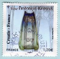 FRANCE 2018 - Croatie France - Vase Antonija Krasnik - Oblitéré - France