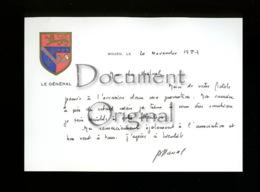 Militaria - Correspondance - General - 20 Novembre 1987 - Rouen - Militaria