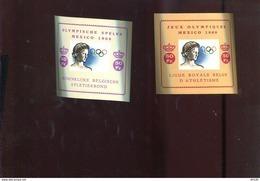 Belgie Erinno E103 E104  OCB 14€ RR Olympics Mexico Athletics MNH - Commemorative Labels