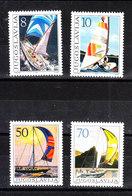 Jugoslavia   -  1985. Windsurf  E Barche Da Regata. Windsurfing And Racing Boats. Complete MNH Set - Vela