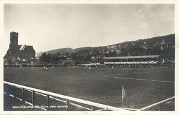 Switzerland, NEUCHÂTEL, Parc Des Sports (1930s) Stadium Postcard RPPC - Fútbol