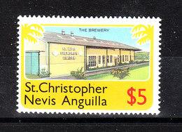 St. Christopher  Nevis Anguilla  - 1978.  Fabbrica Di Birra. Brewery. MNH - Fabbriche E Imprese