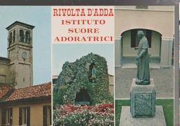 RIVOLTA D'ADDA ISTITUTO SUORE ADORATRICI.VEDUTE DIVERSE.VIAGGIATA-1981-F.G.-NM.854 - Cremona