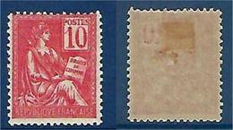 """FR YT 112 """" Mouchon 10c. Rose"""" 1900 Neuf* - 1900-02 Mouchon"""