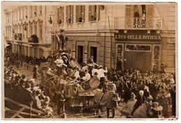 SANREMO CORSO MOMBELLO VIA ROMA - FOTO ORIGINALE CARNEVALE 1939 CARRO A.N.A. PLOTONE SANREMO - Lieux
