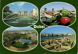United Arab Emirates, DUBAI, Multiview (1980s) Stadium Postcard (1) - Soccer