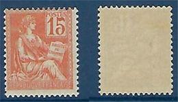 "FR YT 117 "" Mouchon 15c. Orange "" 1900 Neuf** - 1900-02 Mouchon"