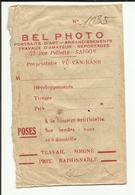 """VIET NAM . SAIGON . ENVELOPPE  POUR PHOTOGRAPHIE DU STUDIO """" BEL PHOTO """" PHOTOGRAPHE  """" VU VAN BANH """" RUE PELLERIN - Matériel & Accessoires"""