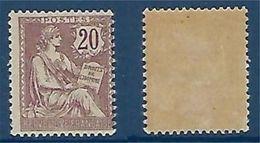 """FR YT 126 """" Mouchon 20c. Brun-lilas """" 1902 Neuf* - 1900-02 Mouchon"""