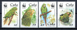 Cuba 2001 / Birds Parrots WWF MNH Vögel Aves Cotorras Oiseaux / Cu11702  C5-12 - Vögel