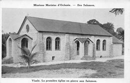 ¤¤  -   ILES SALOMON   -  VISALE   -  La Première Eglise En Pierre Aux Salomon      -  ¤¤ - Solomoneilanden