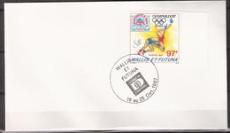 Wallis Et Futuna 1987 Cover Exhibition Hafnia 87, Mi 529 - Special Cancellation 16-25.10.87 Wrestling, Olympic - Expositions Philatéliques