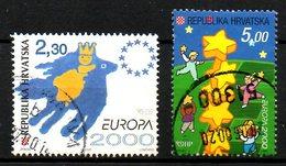 CROATIE. N°514-5 Oblitérés De 2000. Europa 2000. - Europa-CEPT