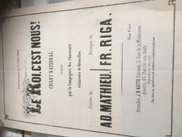 Chasseurs Garde Civique 1860 -2 Documents Invitation Et Programme Partition Musique - Partitions Musicales Anciennes