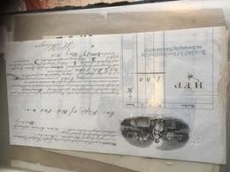 Connaissement Porto Rives Douro Pour Hambourg 1874 Belle Gravure - Portugal