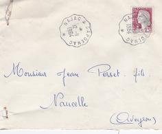 FRANCE LETTRE PUBLICITAIRE NAJAC CAPDENAC N° 1263  EN 1964 - Marcophilie (Lettres)