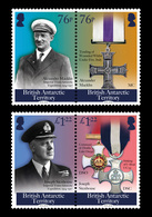 British Antarctic Territory BAT 2018 Centenary Of The End Of WWI 4v MNH - Neufs